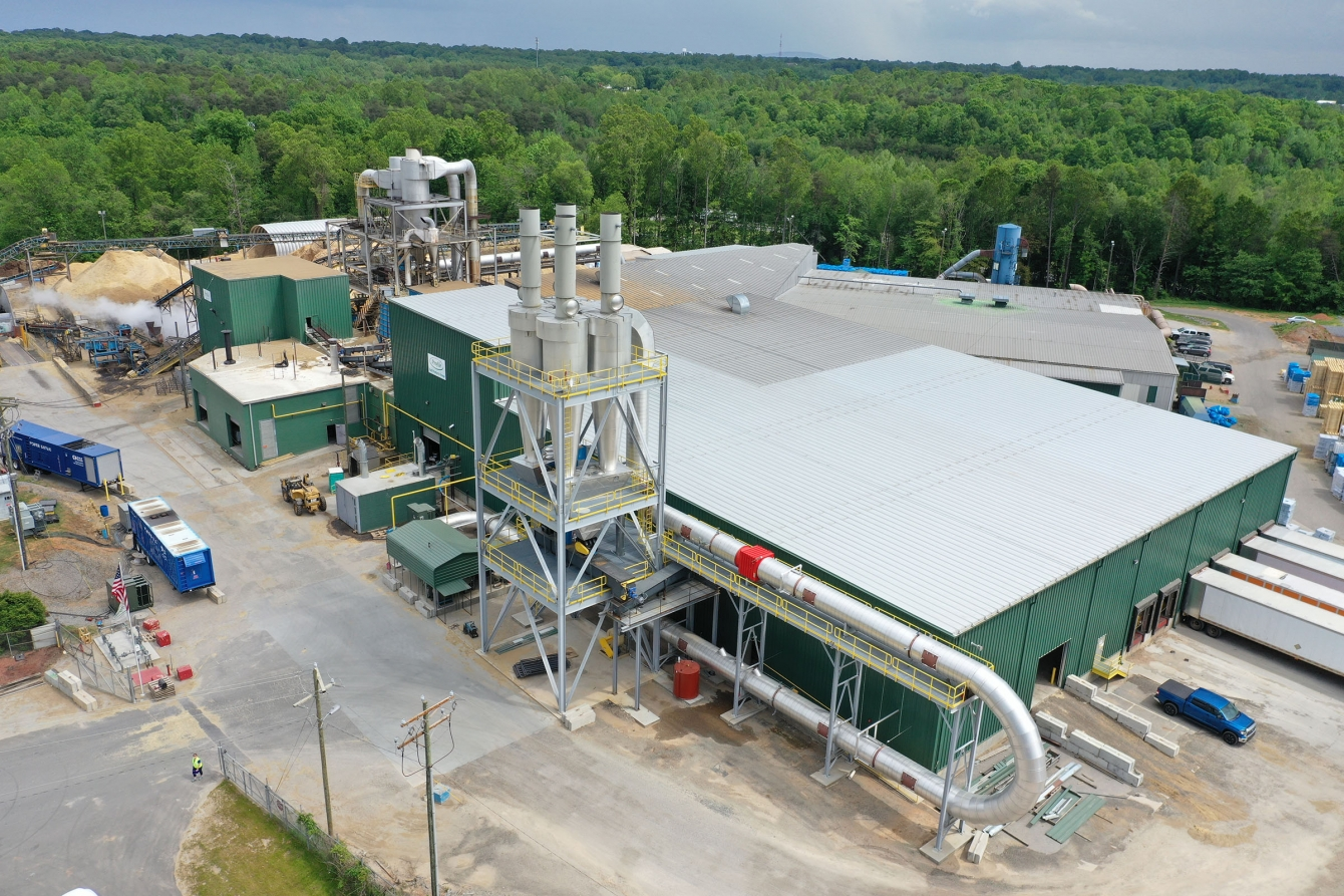 An overhead view of Profile's Conover plant expansion from 2019.